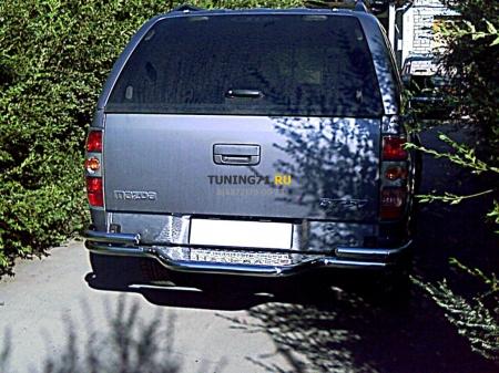 Mazda BT-50 2006-наст.вр.-Защита заднего бампера d-53 со ступенью